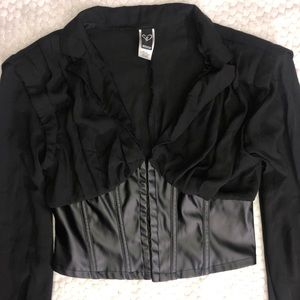 Windsor leather corset top